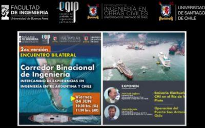 Departamento de Ingeniería en Obras Civiles organizó segunda versión de encuentro bilateral sobre ingeniería portuaria y marítima
